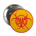 """No GMO Biohazard 2.25"""" Button"""