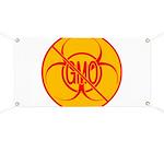 NO GMO Banner Bio-hazard NO GMO Banner