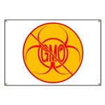 No GMO Biohazard Banner