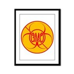 NO GMO Prints Bio-hazard Framed Panel Print