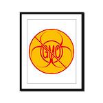NO GMO Prints Bio-hazard Framed Panel Print