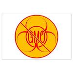 No GMO Biohazard Large Poster