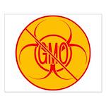 No GMO Biohazard Small Poster