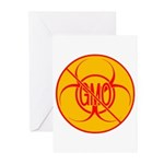 NO GMO Cards Bio-hazard GMO Greeting Cards 20 Pk