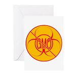 NO GMO Cards Bio-hazard No GMO 10 Greeting Cards