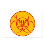 NO GMO Postcards Bio-hazard Postcards 8 pk