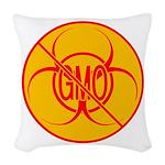 No GMO Biohazard Woven Throw Pillow