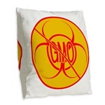 NO GMO Pillows Bio-hazard Burlap Throw Pillow