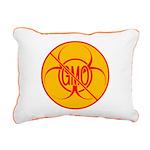 No GMO Biohazard Rectangular Canvas Pillow