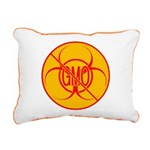 NO GMO Pillow Bio-hazard Rectangular Canvas Pillow
