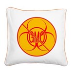 NO GMO Pillow Bio-hazard Square Canvas Pillow