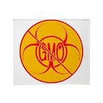 No GMO Biohazard Throw Blanket