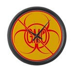 NO GMO Clock Bio-hazard Large Wall Clock