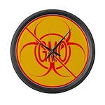 NO GMO Clock Bio-hazard Large Wall Clock