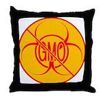 No GMO Biohazard Throw Pillow