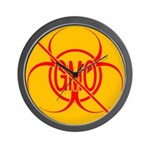 NO GMO Bio-hazard Wall Clock