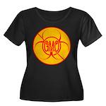 No GMO B Women's Plus Size Scoop Neck Dark T-Shirt