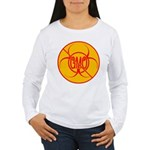 NO GMO Bio-hazard Women's Long Sleeve T-Shirt