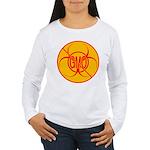 NO GMO Bio-hazard Women's Long Sleeve T-Shirt