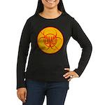 NO GMO Bio-hazard Women's Long Sleeve Dark T-Shirt