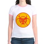 NO GMO Bio-hazard Jr. Ringer T-Shirt