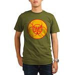 NO GMO Bio-hazard Organic Men's T-Shirt (dark)