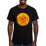 No GMO Biohazard Men's Fitted T-Shirt (dark)