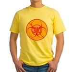 NO GMO Bio-hazard Yellow T-Shirt