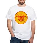 NO GMO Bio-hazard White T-Shirt