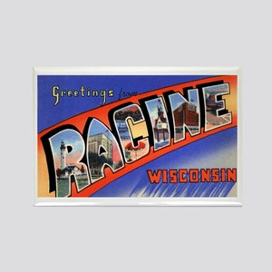 Racine Wisconsin Greetings Rectangle Magnet
