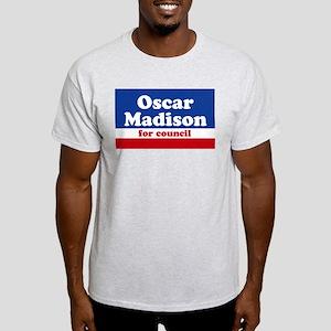 Oscar Madison for Council Ash Grey T-Shirt
