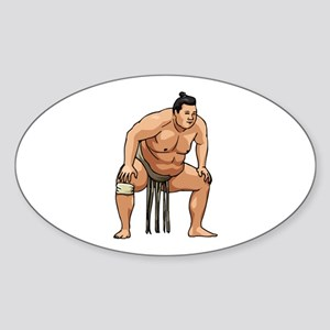 Wrestling Oval Sticker