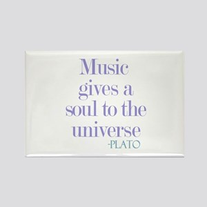 Music gives soul Rectangle Magnet