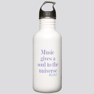 Music gives soul Water Bottle