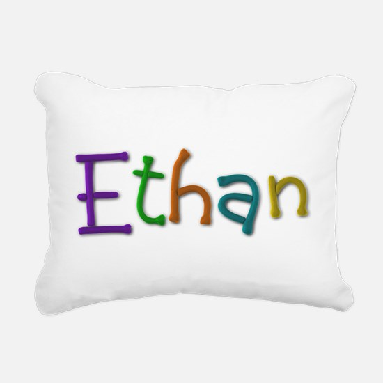 Ethan Play Clay Rectangular Canvas Pillow