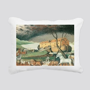 Noah's Ark by Edward Hic Rectangular Canvas Pillow