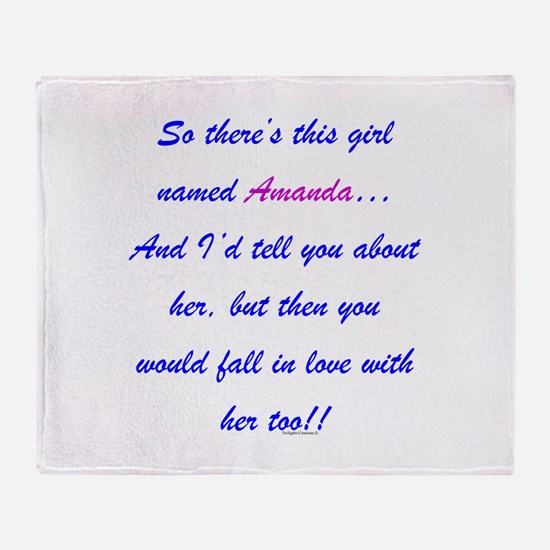 Girl named Amanda Throw Blanket