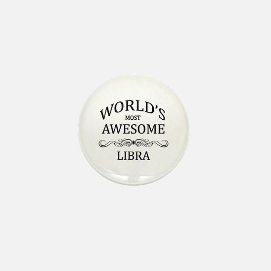 World's Most Awesome Libra Mini Button