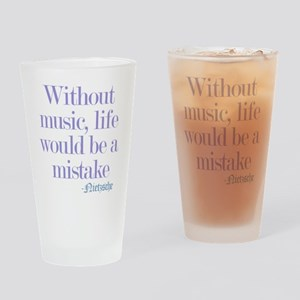 music and life Drinking Glass