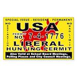 Liberal Hunt Permit Rectangle Sticker