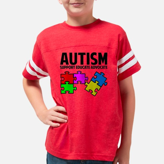 autismSup1A Youth Football Shirt