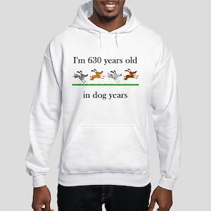 90 birthday dog years 1 Hoodie
