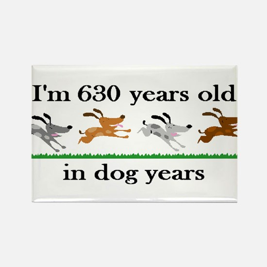 90 dog years birthday 2 Rectangle Magnet