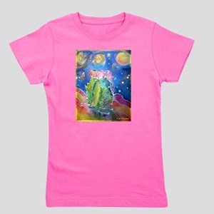 cactus at night! soutwest art! Girl's Tee