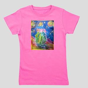cactus at night! soutwest art! Girl's Tee