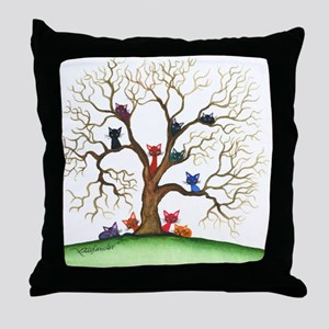 Fayetteville Stray Cats Throw Pillow