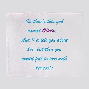 Girl Named Olivia Throw Blanket