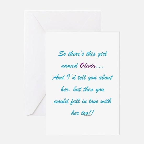 Girl Named Olivia Greeting Card