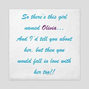 Girl Named Olivia Queen Duvet