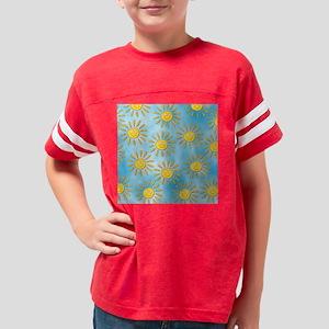 sunny skies tile Youth Football Shirt